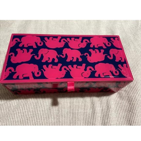 LILLY PULITZER Glass Jewelry Box Elephant